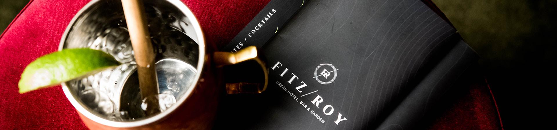 De menukaart van hotel Fitz Roy